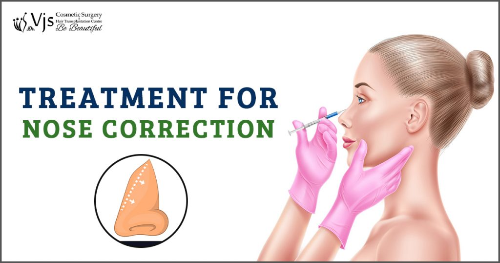 What is the process of surgery to correct the nose after an accident