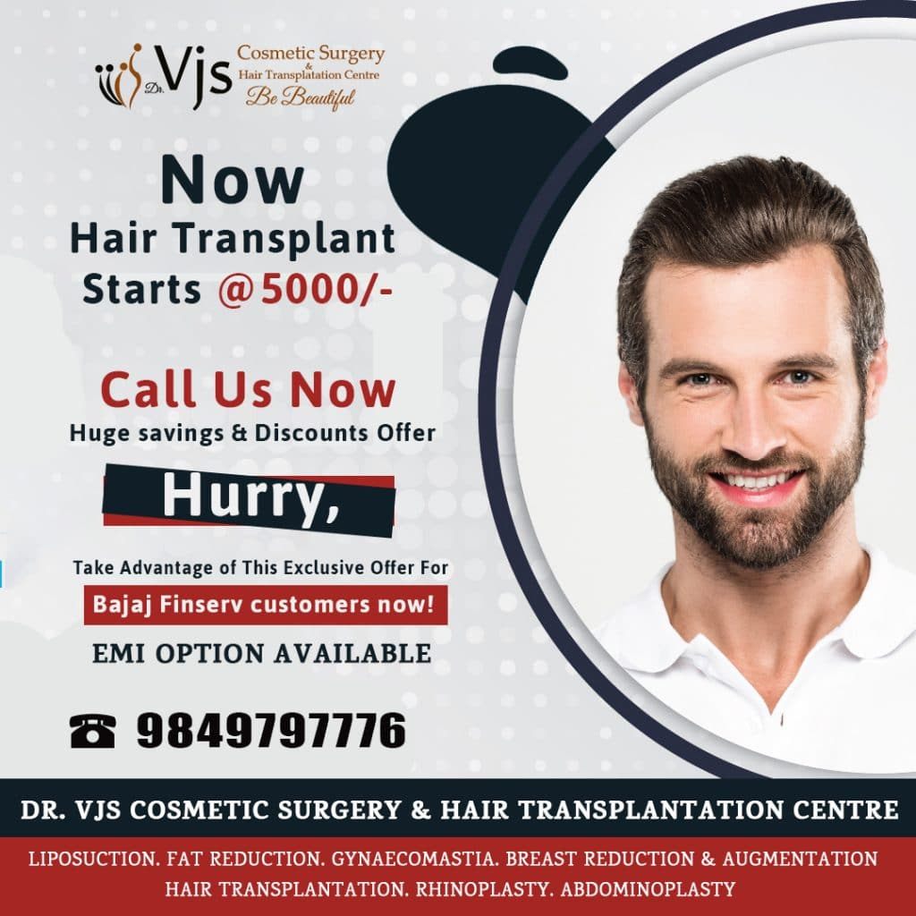 EMI for Hair transplant treatment Offer Vizag