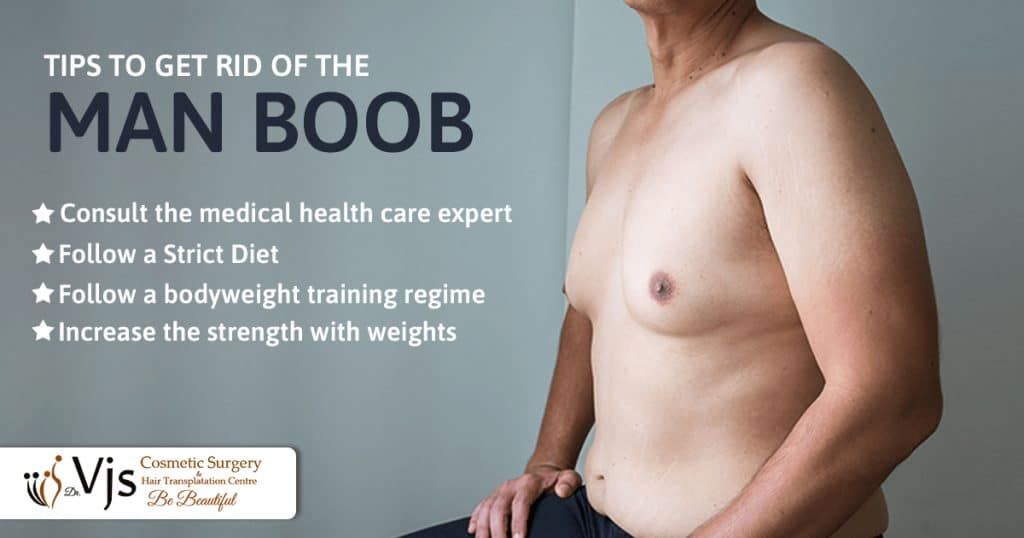 What are the topmost tips to get rid of the man boobs (Gynecomastia) effectively?